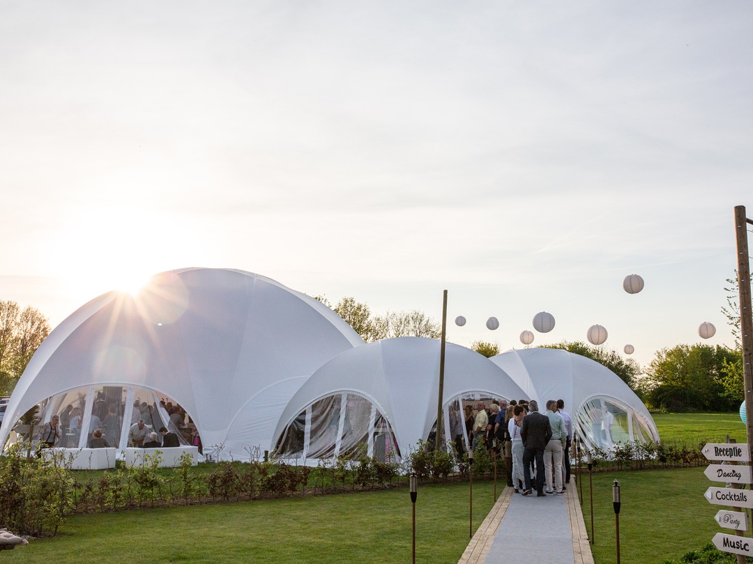 Hexadome Tent - wedding reception