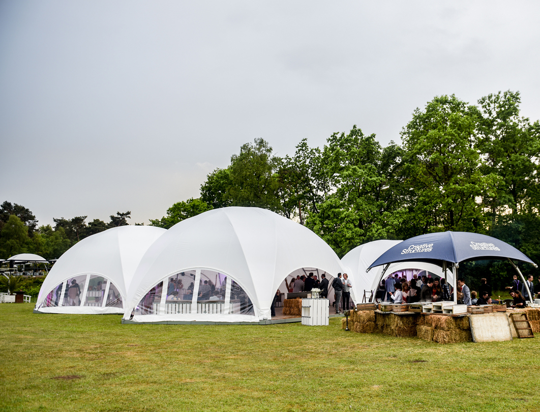 Hexadome Tent - wedding reception with windows